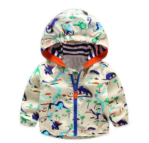 Kids Hooded Dinosaur Jacket (1-6 Years) - Mini Chic Outlet