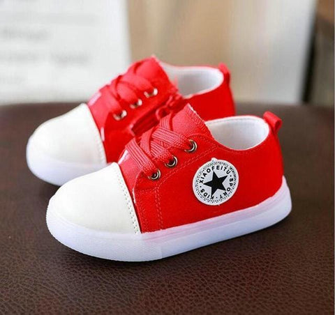 Kids Converse Style Shoes for Baby and Toddler With Led Lights - Mini Chic Outlet