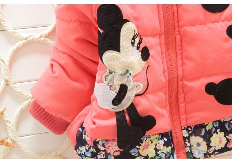 Warm Minnie Mouse Baby Girl Jacket - Mini Chic Outlet