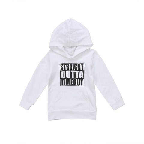 Kids 'Straight Outta Timeout' Hoodie (1-5 years) - Mini Chic Outlet