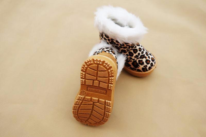 Winter Boots Girls With Leopard Pattern - Mini Chic Outlet