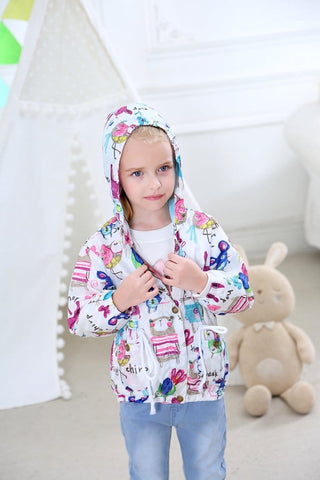 Cute Kids Chirp And Squeak Wind/Shower Coat (18m-6y) - Mini Chic Outlet