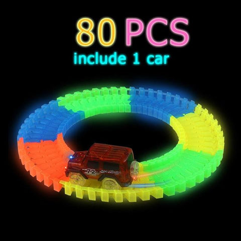 Image of LED Glow Racing Tracks and Cars - Mini Chic Outlet