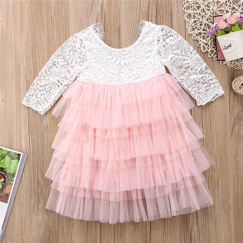 Image of 1-4 Years Long Sleeve Tulle Dress - Mini Chic Outlet