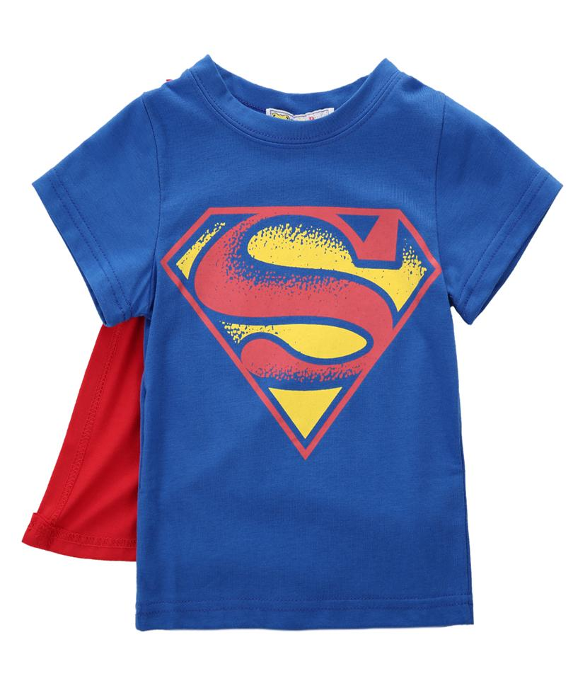 Kids Batman And Superman Tshirts With Capes (1-5 years) - Mini Chic Outlet