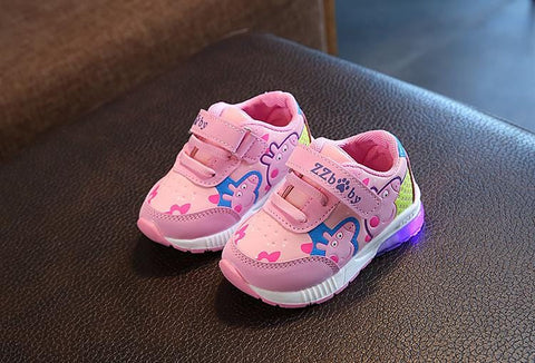 Kids Peppa Style LED Flashing Footwear - Mini Chic Outlet