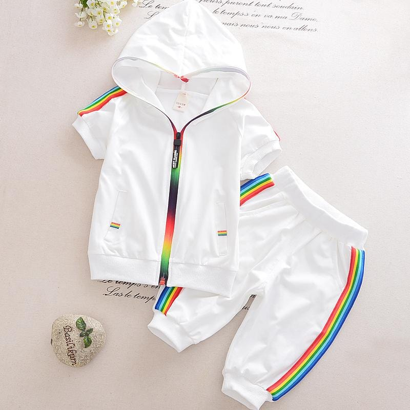 Kids 2 Piece Rainbow Tracksuit (1-5 years) - Mini Chic Outlet