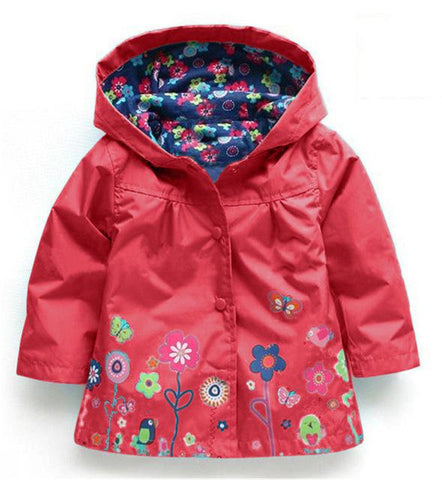 Beautiful Spring/Summer Flower Rain Jacket - Mini Chic Outlet