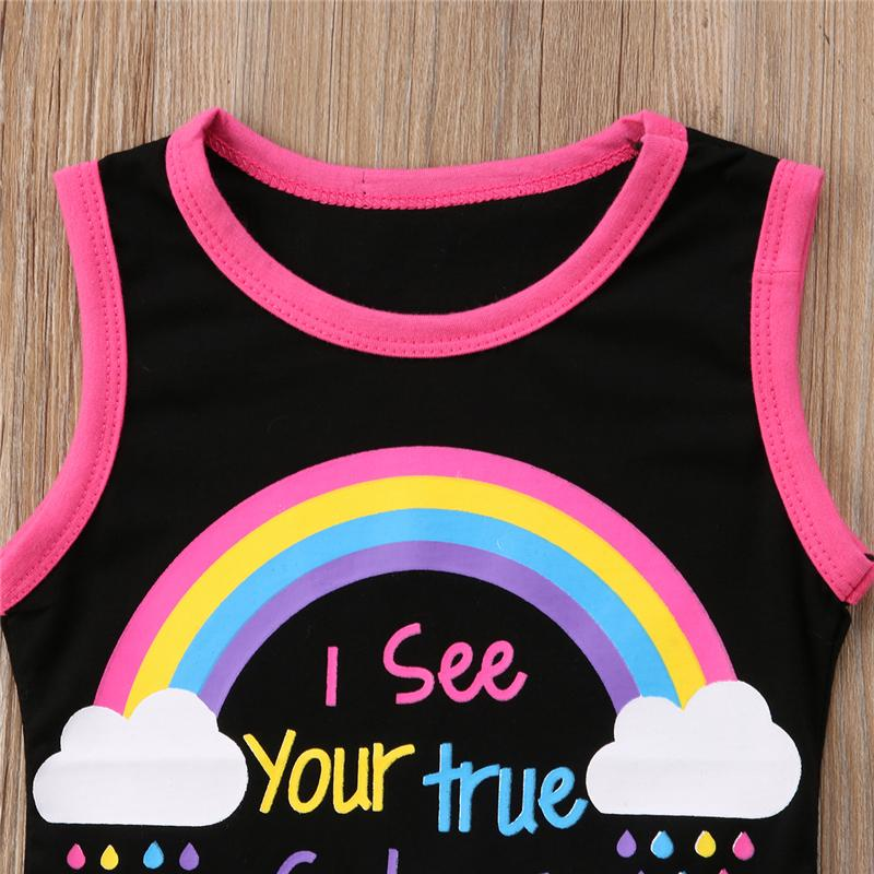 Girls 2 Piece Summer Rainbow Outfit - Mini Chic Outlet