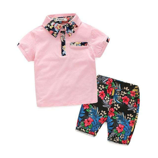 Boys Short-Sleeved Tshirt And Shorts Sets (2-8 years) - Mini Chic Outlet