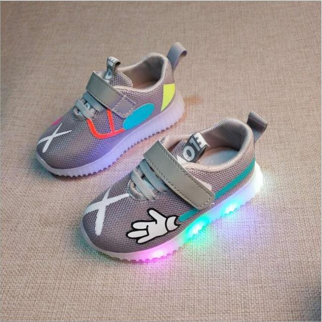 Kids Mickey Airmesh LED Trainers (Toddler to big kid sizes) - Mini Chic Outlet