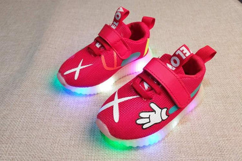 Image of Kids Mickey Airmesh LED Trainers (Toddler to big kid sizes) - Mini Chic Outlet