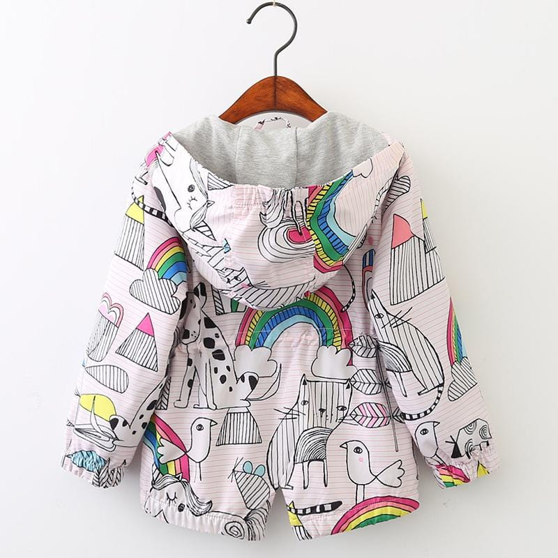 Little Girls Animal Themed Light Raincoats (2-7 years) - Mini Chic Outlet