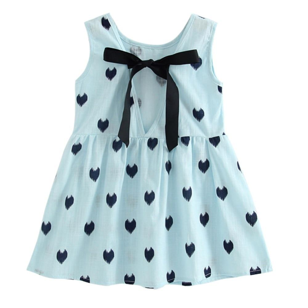 Retro Girl Cotton Dress - Sleeveless Baby Girl Dress - Mini Chic Outlet