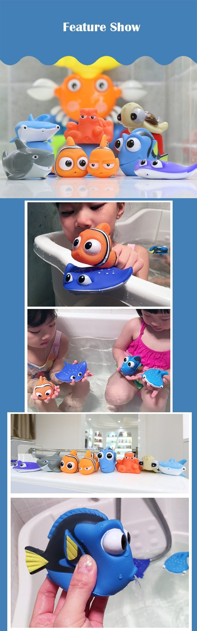 Finding Nemo Baby Bath Toys - Water Squeeze Toys - Mini Chic Outlet