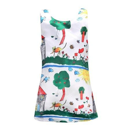 Little Girls Summer Fun Graffiti Dress - Mini Chic Outlet