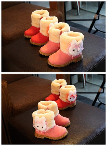 Image of Girls Boots With Cute Rabbit - Mini Chic Outlet