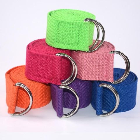 Image of Yoga Strap Streches - Multi Colour Yoga Belt - Mini Chic Outlet