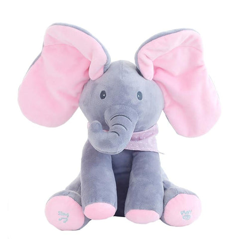 Image of Peek A Boo Elephant And Bear - Musical Toys For Kids - Mini Chic Outlet