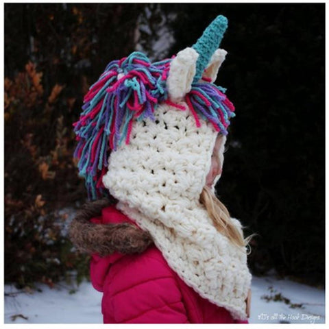 Image of Unicorn Hand Knitted Headscarf (3-12 years) - Mini Chic Outlet