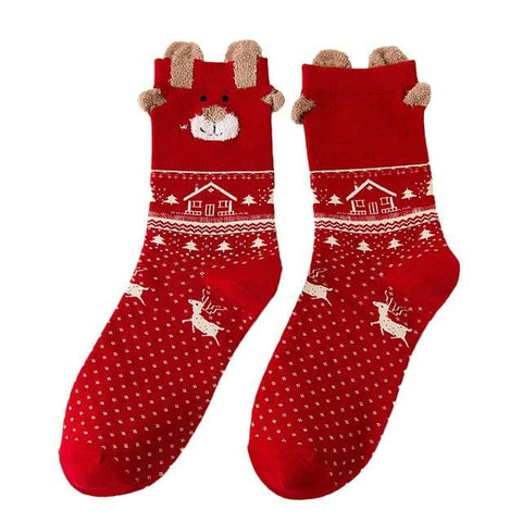 Image of Multi-Color Women's Christmas Socks - Mini Chic Outlet