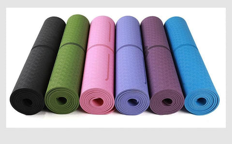Image of TPE Yoga Mat - Non Slip Gymnastics Mat 1830*610*6mm - Mini Chic Outlet