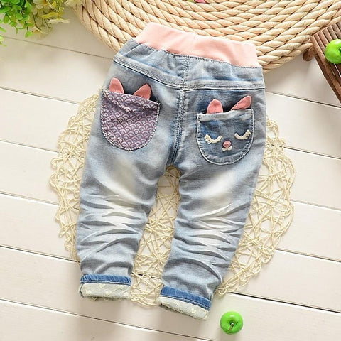 Image of Little Girls Princess Denim Jeans (1-5 years) - Mini Chic Outlet