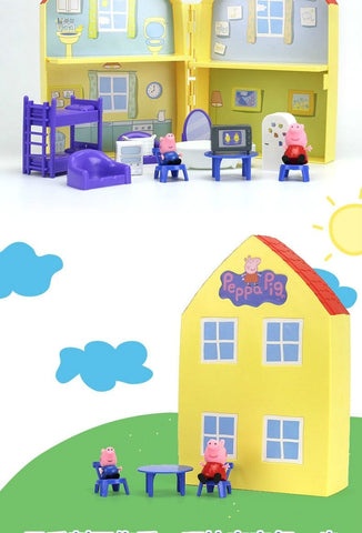 Peppa Pig's House With Peppa And George Figures - Mini Chic Outlet