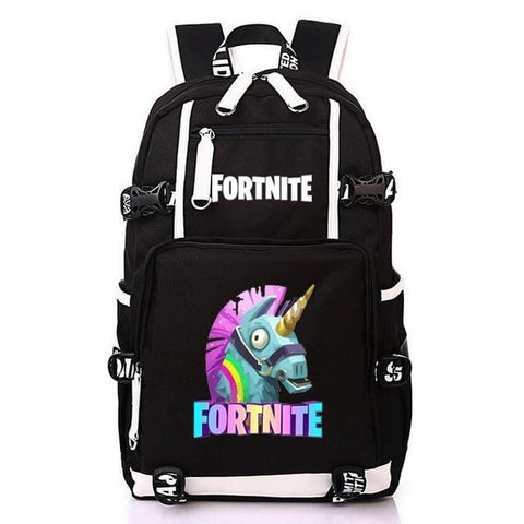Fortnite Backpack - Cartoon Figures School Bag With USB Charging - Mini Chic Outlet