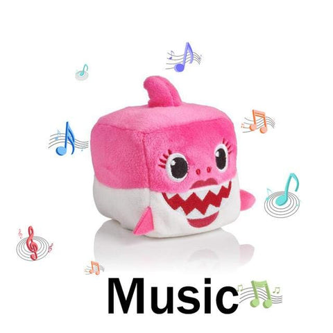 Image of Baby Shark Plush Sound Cubes - Musical Shark Toy - Mini Chic Outlet