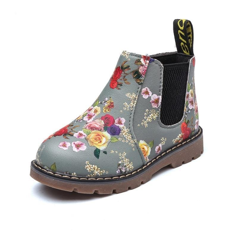 Dashing Floral Chelsea Style Boots For Girls  (toddler to big kids sizes) - Mini Chic Outlet