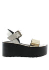 Chrome Metal Sandal Wedges - nose intl