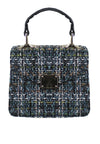 Pu & Multi Tweed Crossbody Bag