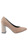 Pointed Chunky Heel Pump - nose intl