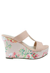 Duo Tone & Floral Print Wedge Slide - nose intl
