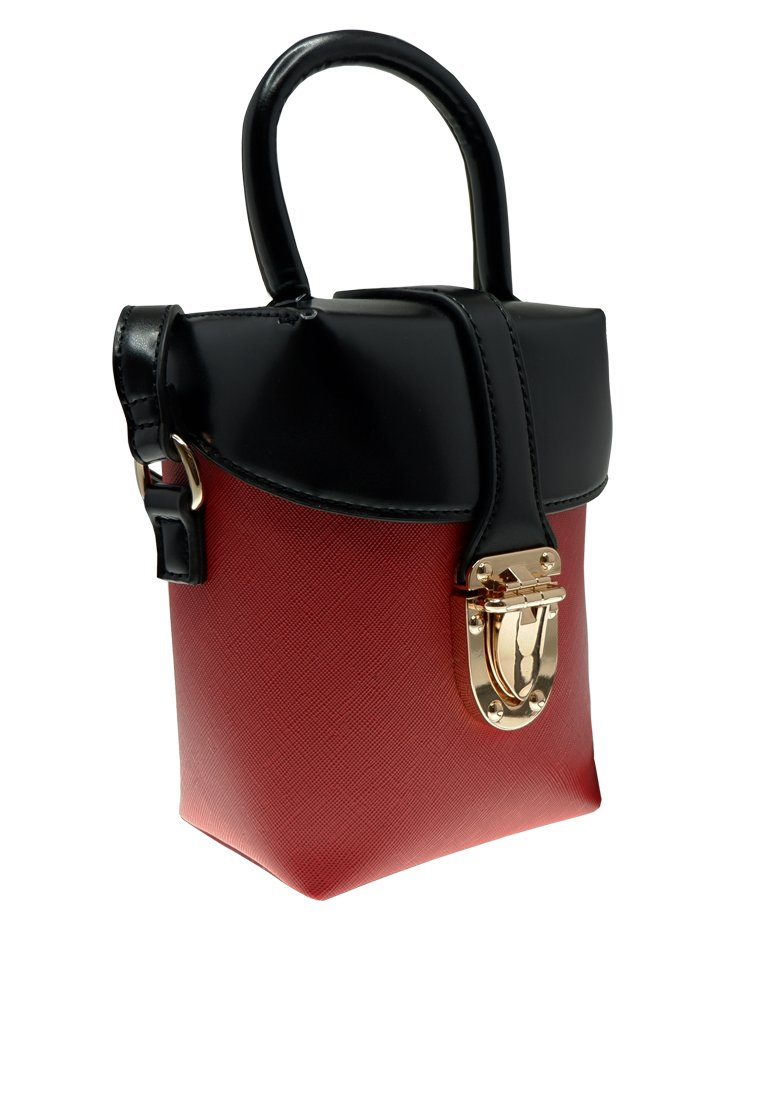Duo Tone Buckle Crossbody Bag