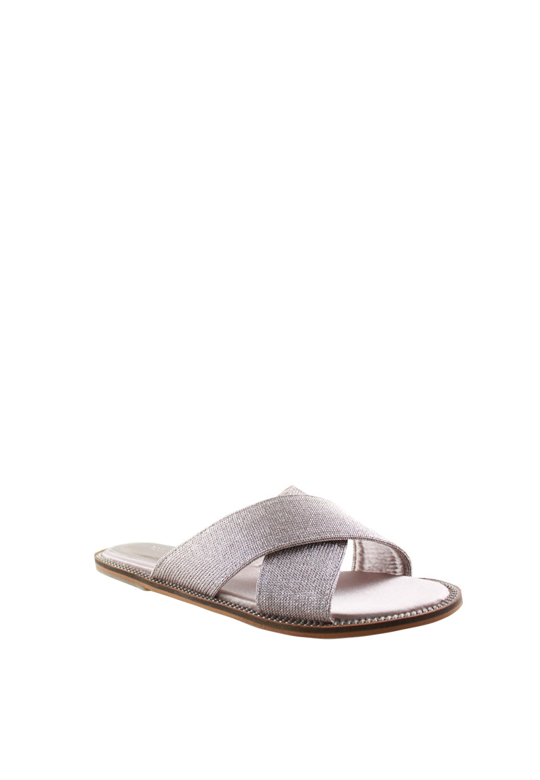 Metallic & Mesh Flat Slide