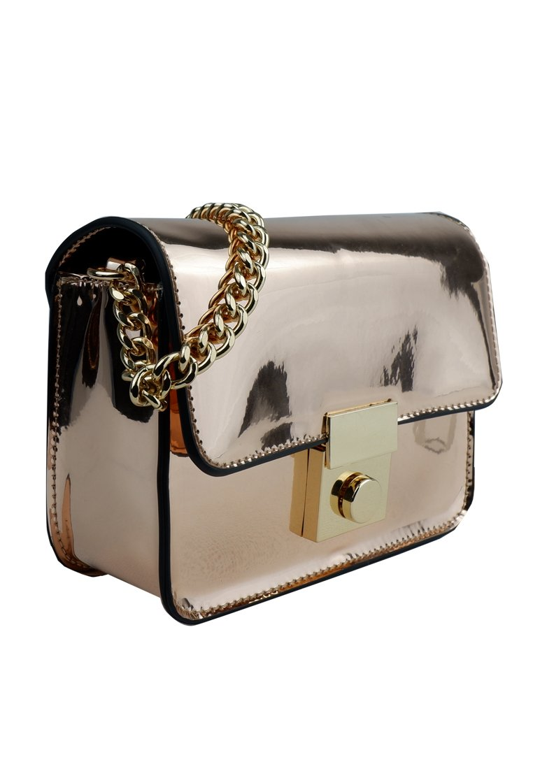Metal Chrome Crossbody Bag