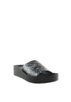 Marble Print Wedge Slide