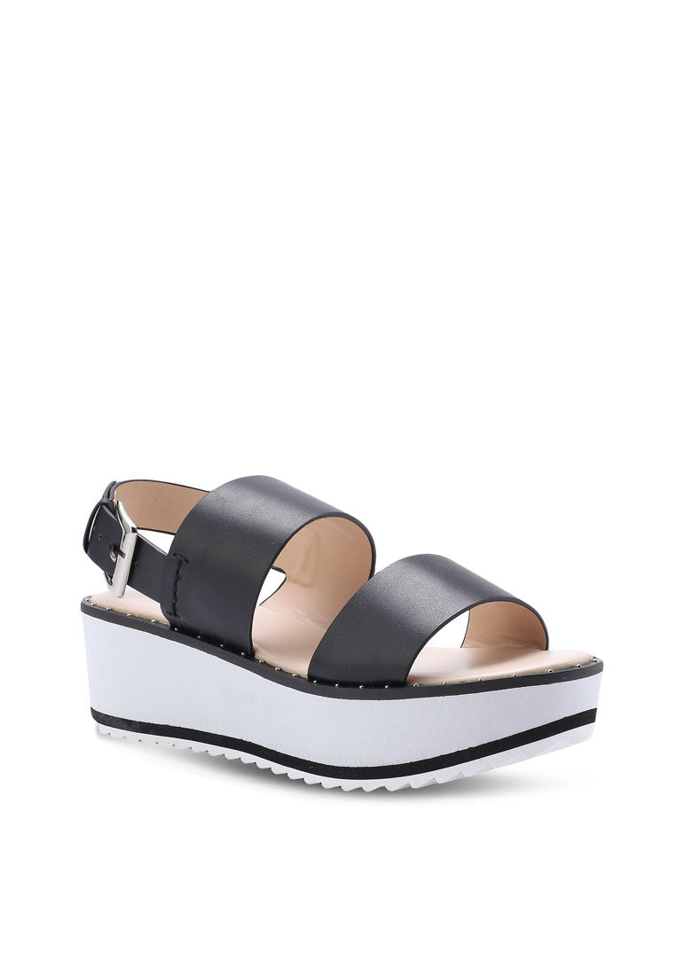 Two Strap Studded Wedge Sandal - nose intl