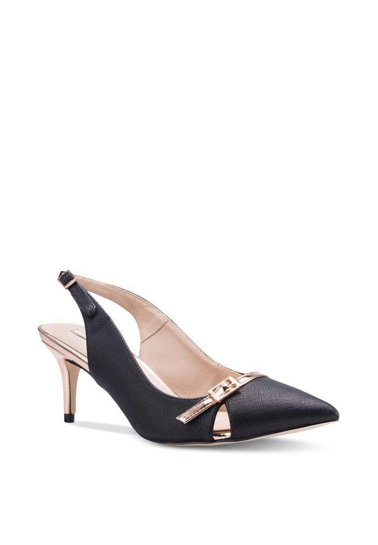 Pointed Toe Slingback Heel Pump