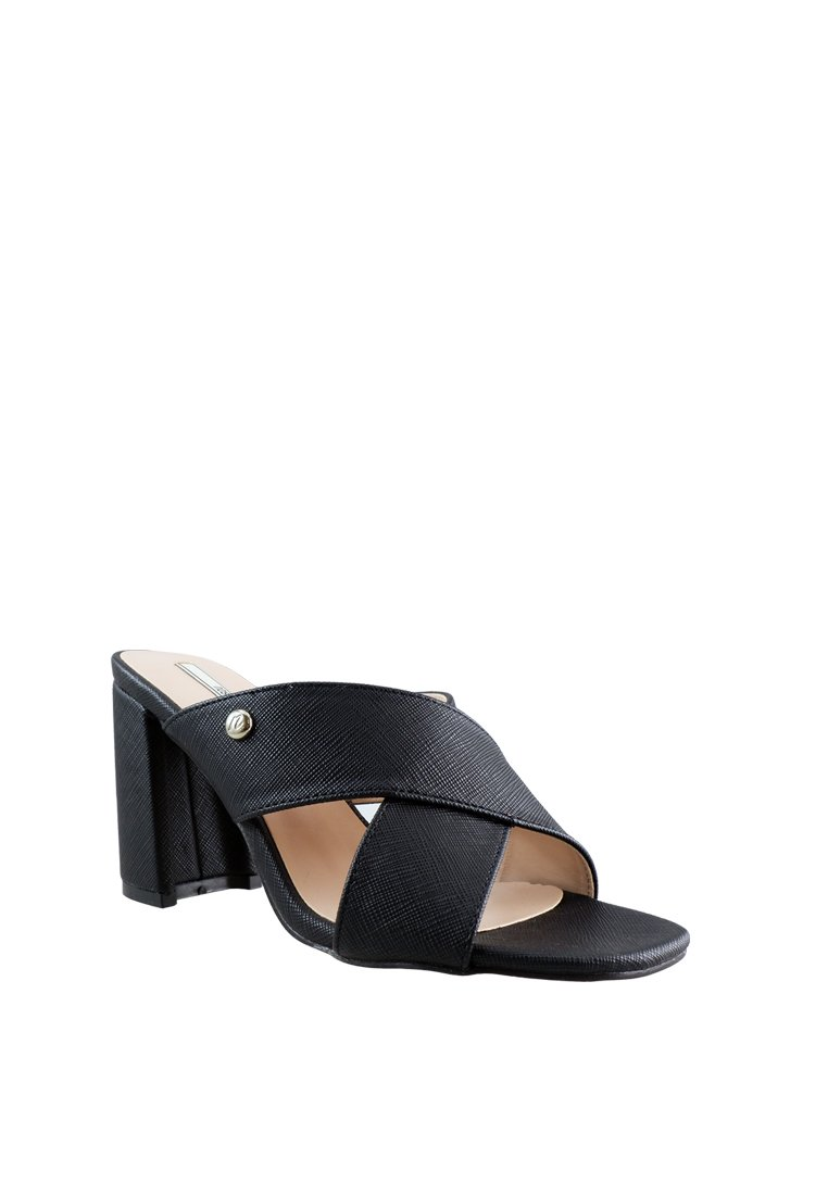 Cross Pu Chunky Slide Heel