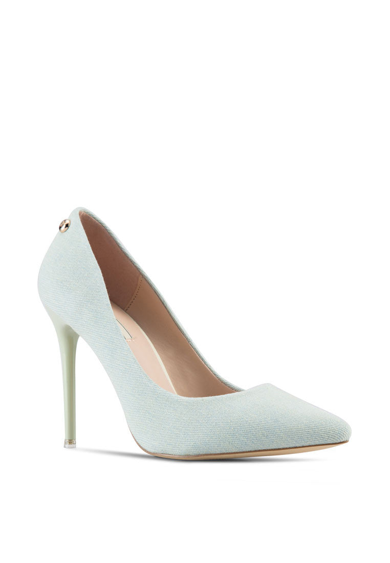 Denim Heel Pump
