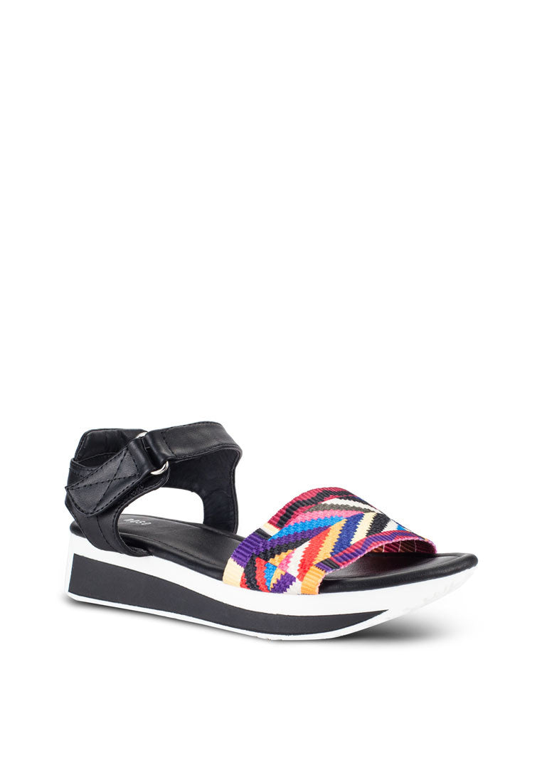 Ethnic Colorful Strap Wedge Sandal