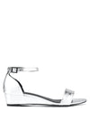Chrome Wedge Sandal