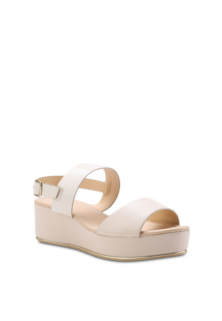 Metal Piping Wedge Sandal