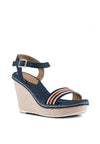 Denim & Sport Band Wedge Sandal