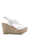 Casual Perforated Wedge Sandal