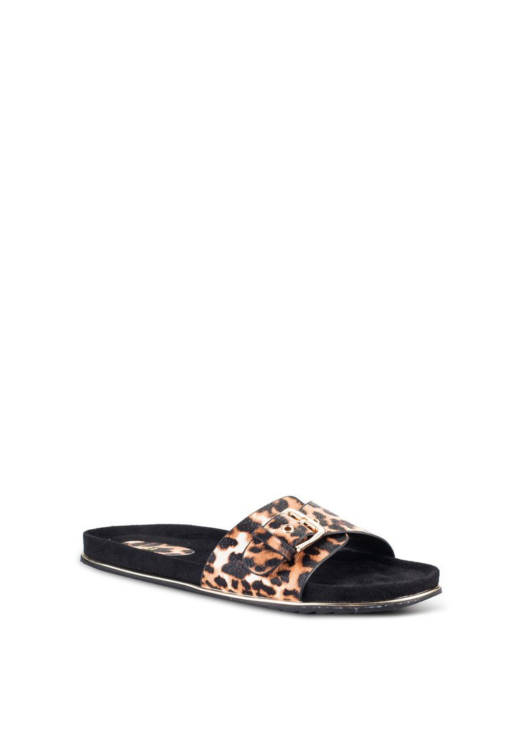 Animal Print Flat Slide - nose intl