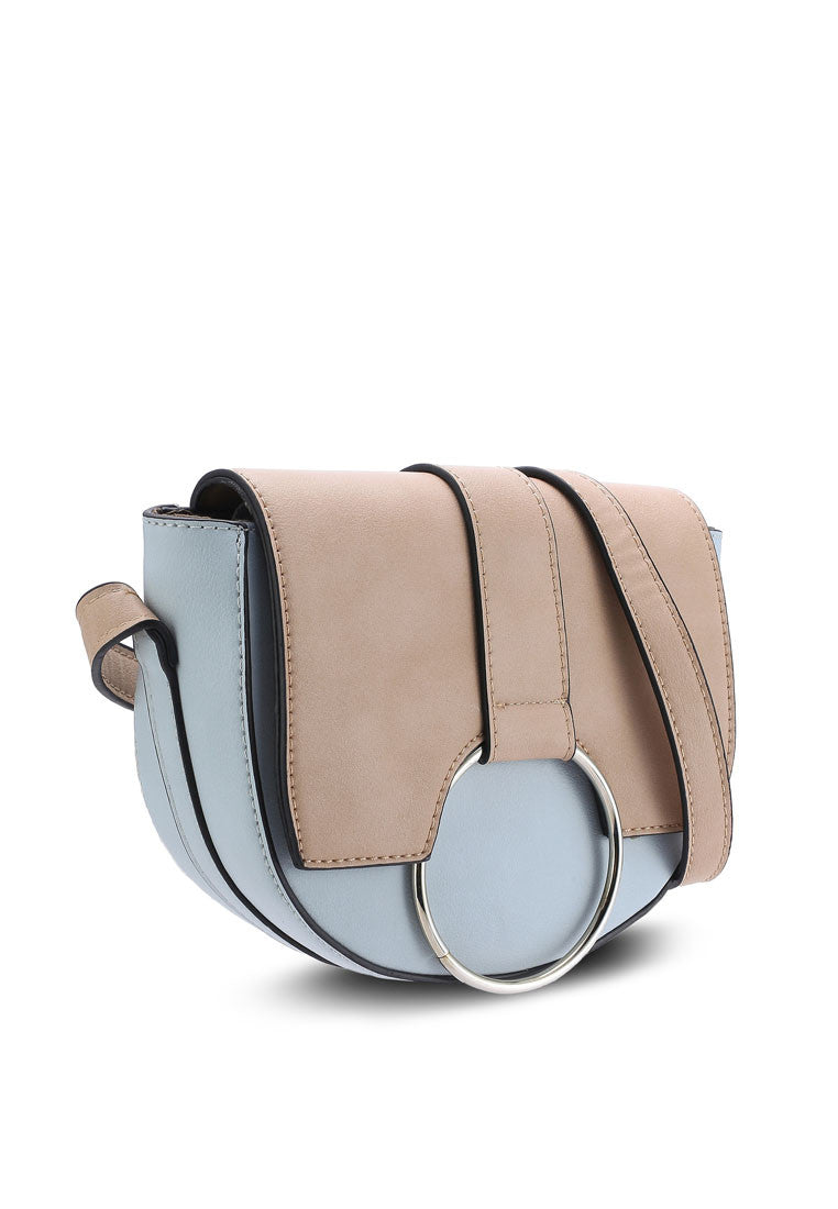 Duo Tone Crossbody Bag